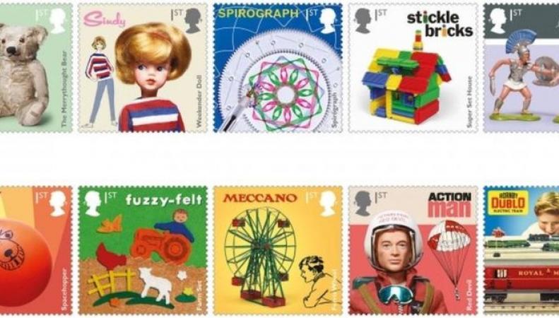Royal Mail выпустила серию марок о лучших британских игрушках фото:bbc