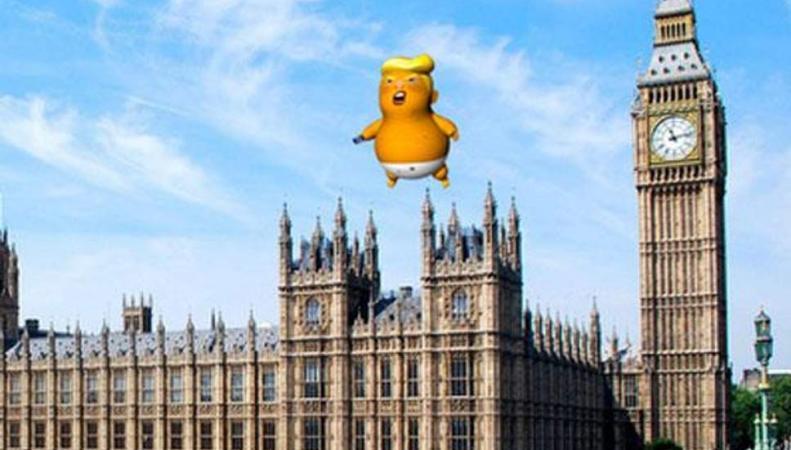 Лондонцы пообещали запустить в воздух надувную карикатуру на Трампа в день его визита