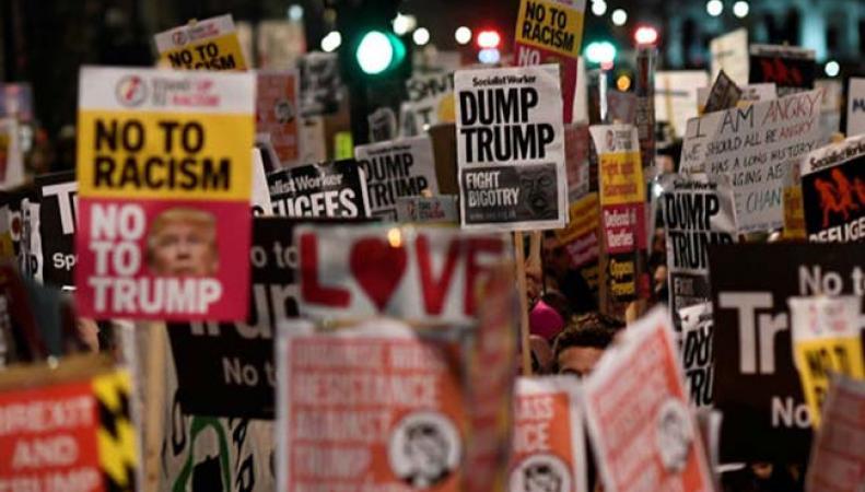 Протесты в Лондоне против указа Трампа о миграционной политике