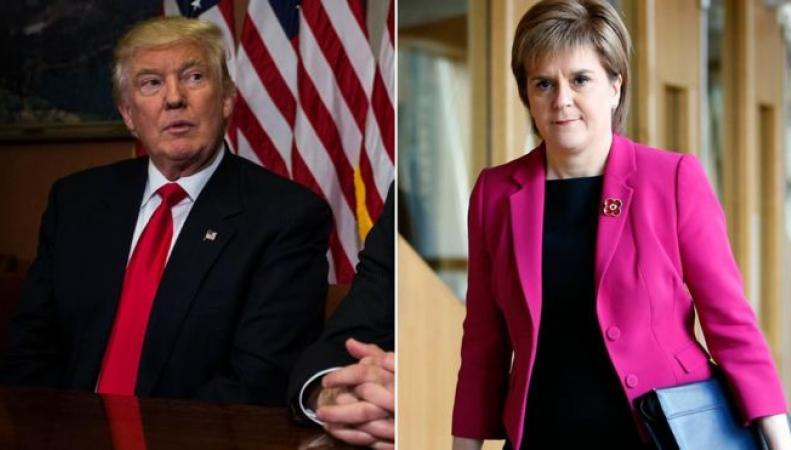 Никола Стерджен под принуждением написала поздравительное послание Дональду Трампу фото:dailyrecord.co.uk