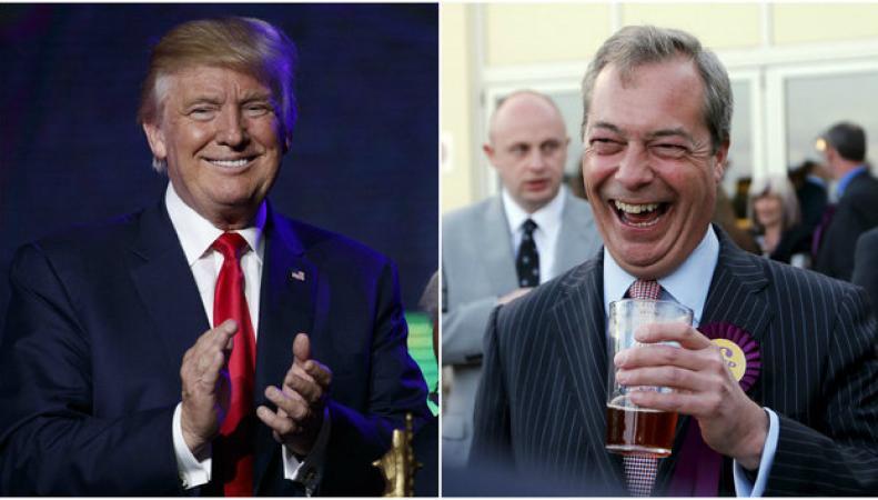Дональд Трамп хочет видеть Фаража послом Великобритании в США фото:huffingtonpost.co.uk