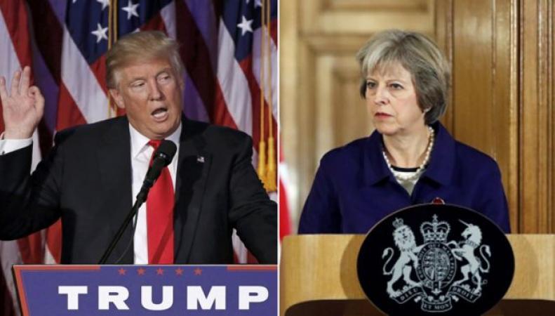 Дональд Трамп проигнорировал поздравление Терезы Мэй с избранием на пост  фото:bbc.com