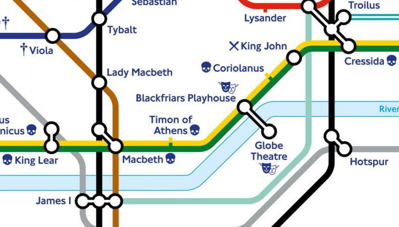 Шекспировская карта метро