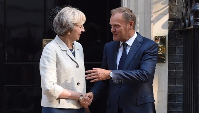 Тереза Мэй провела переговоры с главой Европейского совета Дональдом Туском фото:telegraph.co.uk