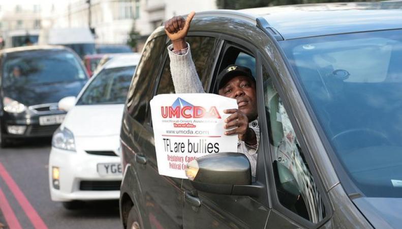 Водители Uber провели «медленную забастовку» в Лондоне фото:theguardian.com