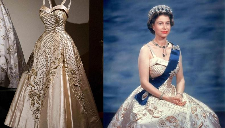 Выставка королевских нарядов открыта в Букингемском дворце фото:dailymail.co.uk