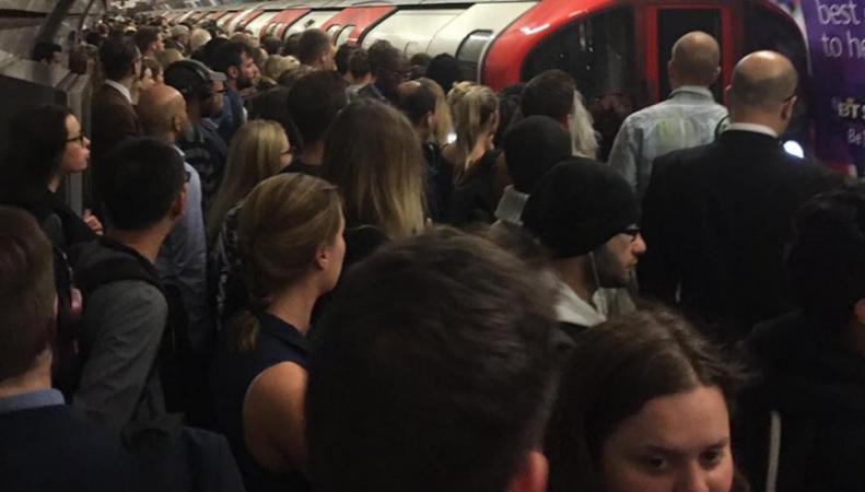 Пассажиры лондонского метро страдают из-за нехватки поездов фото:standard.co.uk