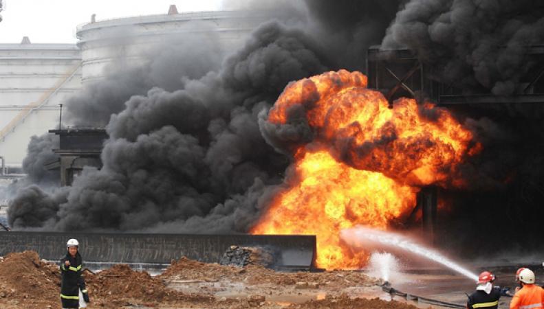 Взрыв в Китае, химзавод
