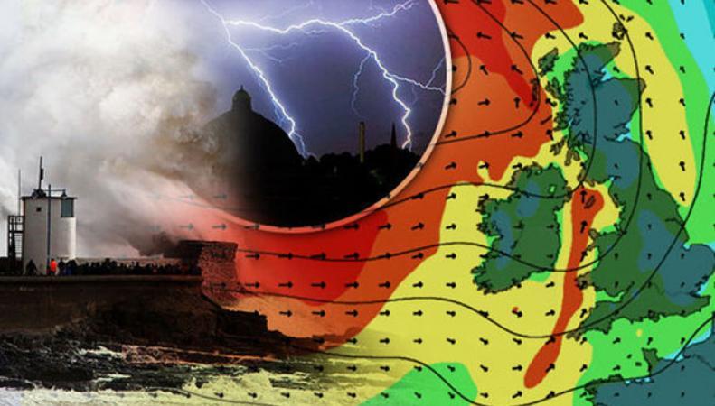 В ближайшие 24 часа Британию накроет шторм