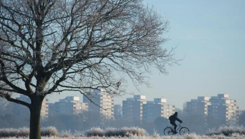 Волна холода с востока принесла снег в Лондон фото:standard.co.uk