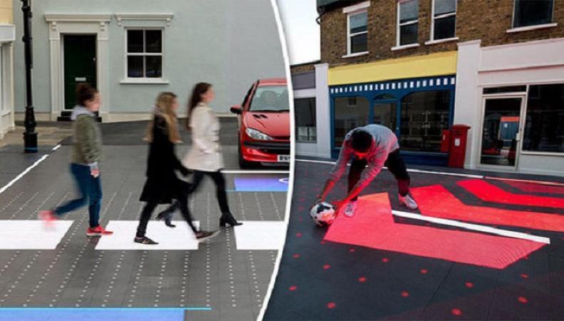 Встолице Англии показали «умную зебру» для пешеходов иводителей