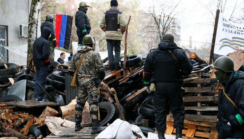 Славянск, Украина, народное ополчение