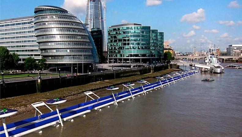 В Лондоне появится велодорожка на воде