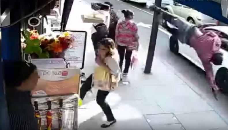 Видео последних секунд жизни пешехода