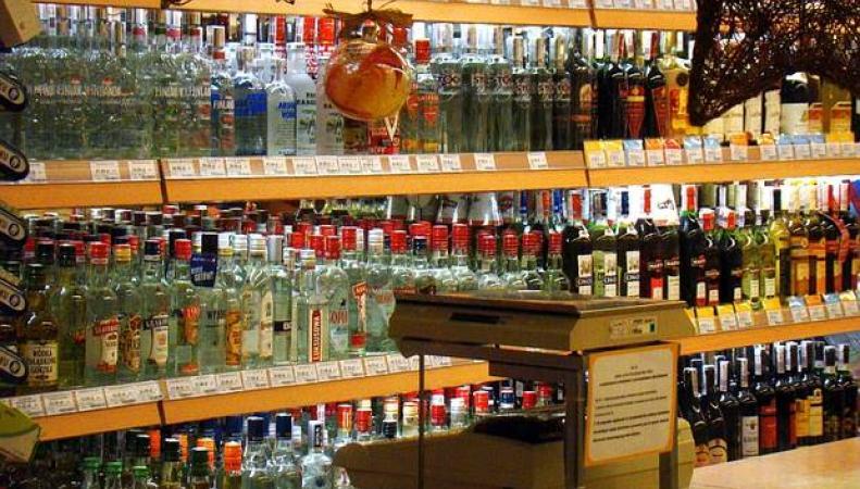 Витрины с алкоголем