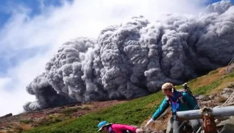 Извержение вулкана Онтакэ