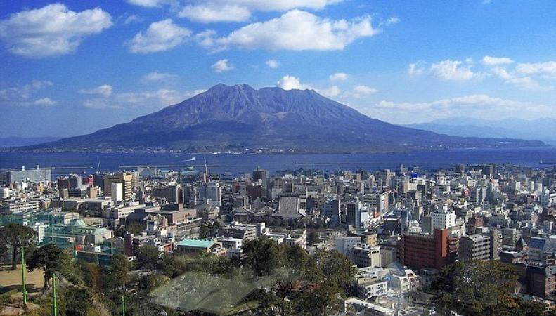 Вулкан на острове Кюсю
