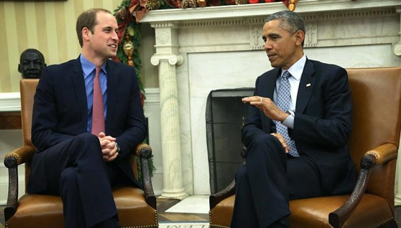 принц Уильям и Барак Обама