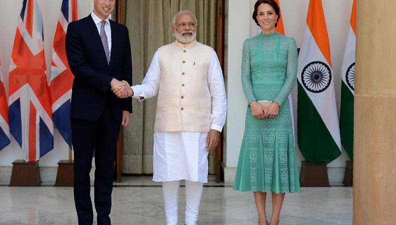 принц Уильям, Кейт и Нарендра Моди