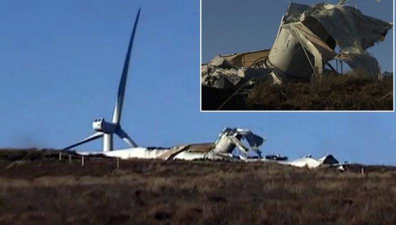 Обрушение ветровой турбины