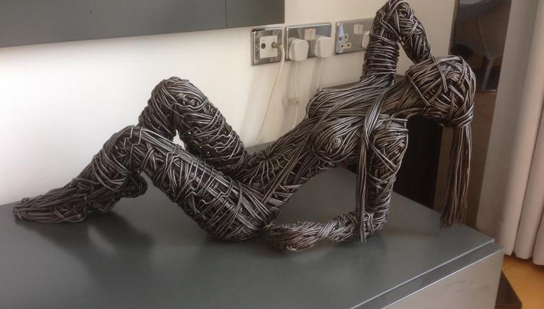 Мастер из Британии создает потрясающие скульптуры из проволоки