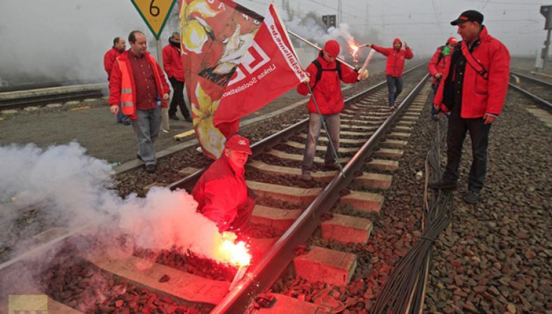 Во Франции началась забастовка работников железнодорожного транспорта