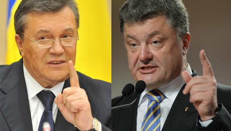 Президенты Украины: Янукович и Порошенко