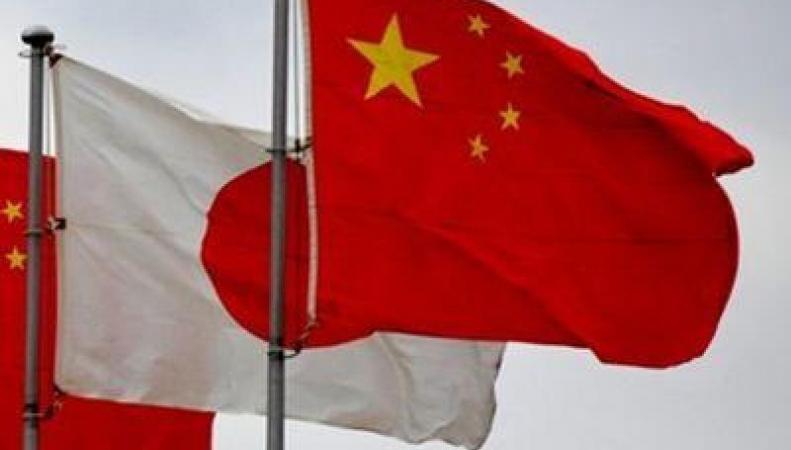 Флаги Японии и Китая