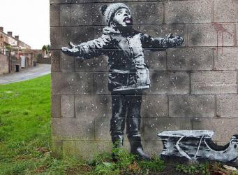 Грустное Рождество: Бэнкси подарил граффити городу Порт-Толбот