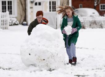 Британия в снегу: впечатляющие фотосвидетельства