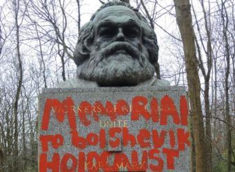 Могила Карла Маркса в Лондоне осквернена второй раз с начала месяца