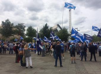 В Глазго прошел митинг против Би-Би-Си