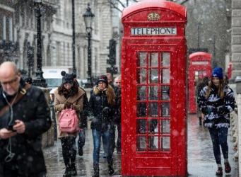 Лондон столкнутся с коллапсом транспортной сети из-за снегопада
